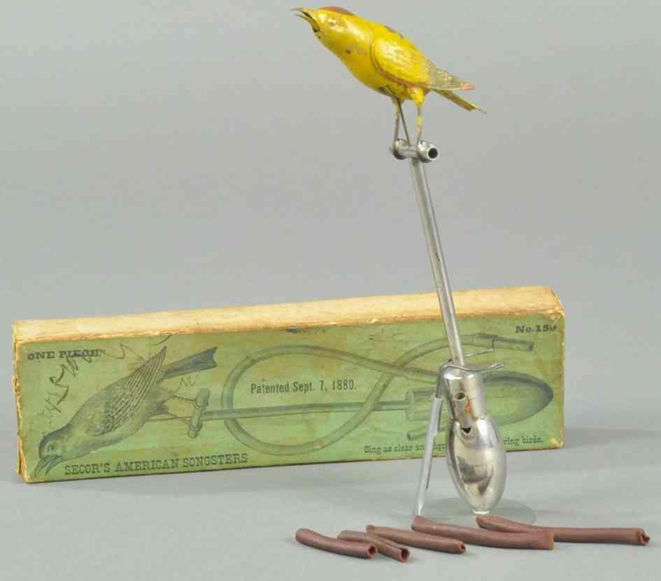 secor jerome 150 spielzeug gusseisen pfeifender vogel