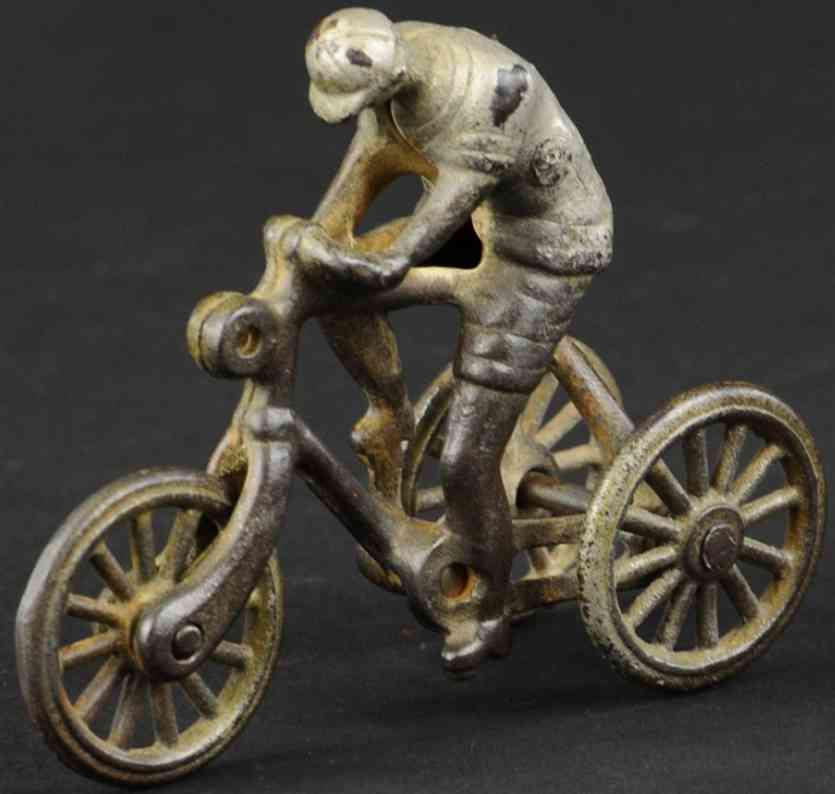 shimer toy co 67 cast iron toy bicycle rider three wheels