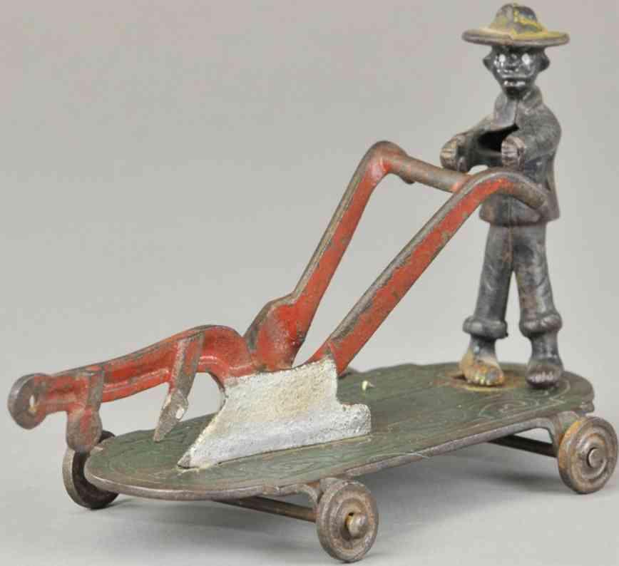 shimer toy co gusseisen plantagenarbeiter pflug ziehspielzeug