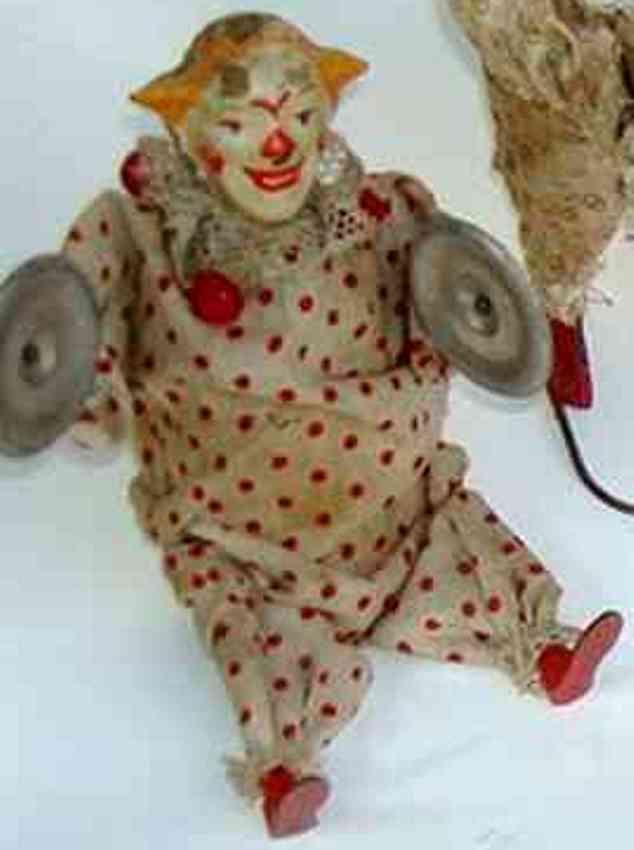 staudt leonhard 3257 tin toy music clown with flute and clockwork