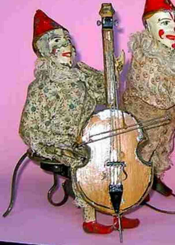 staudt leonhard 3432 tin toy music clown with bass and clockwork
