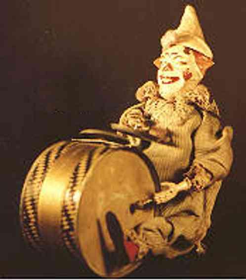 staudt leonhard 3256 blech spielzeug clown mit pauke uhrwerk