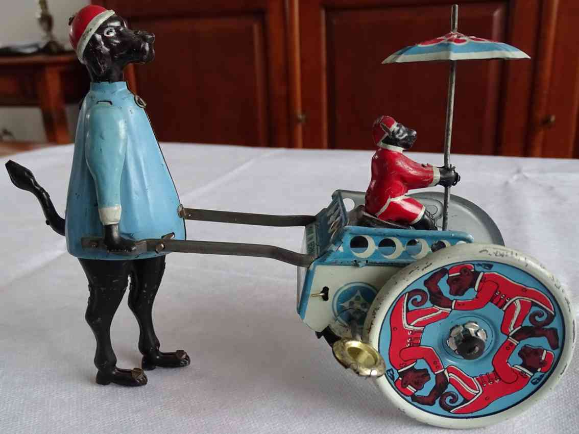 stock walter 115 tin toy flip and flop circus artists poodle blue