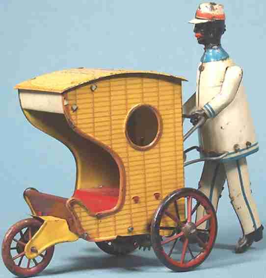 stock walter 195 blech spielzeug rollo chair schwarzer mann board walk
