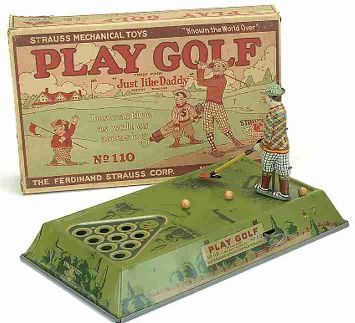 strauss 110 blech spielzeug golfspiel uhrwerk