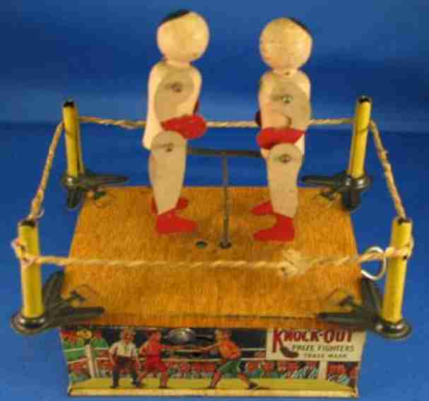 strauss ferdinand 52 blech boxer knock-out prize fighters uhrwerk,
