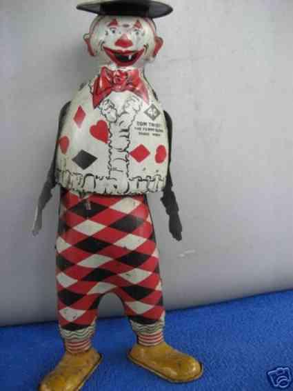 strauss ferdinand 40 blech spielzeug tom twist clown mit uhrwerk