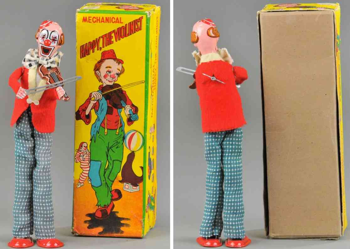 tps tin toy happy clown the violinist