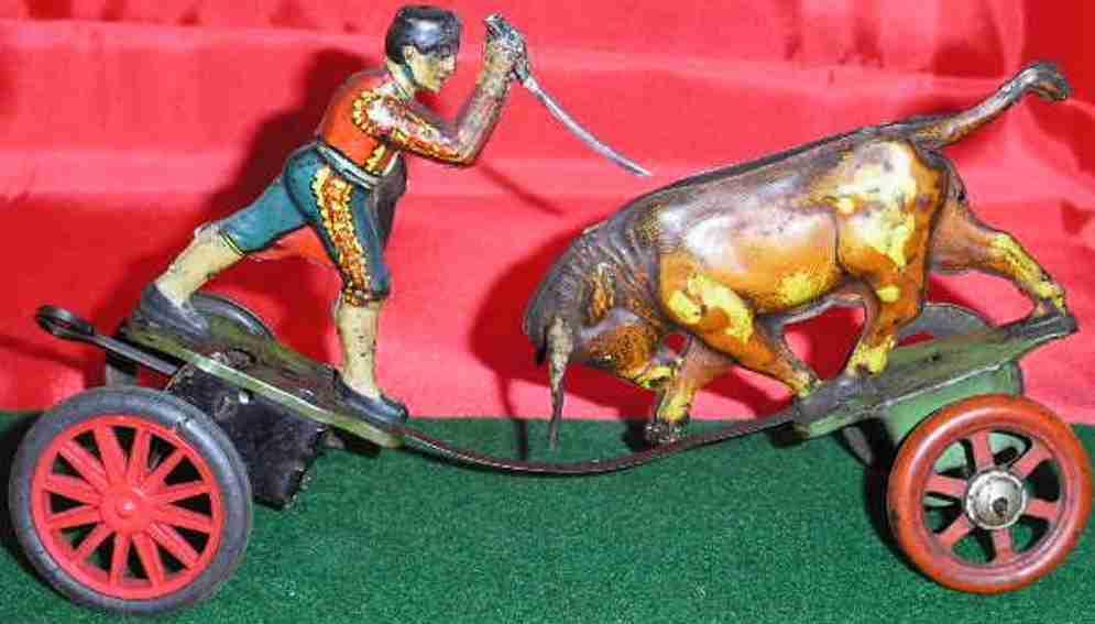 technofix 128 tin torero matador and bull