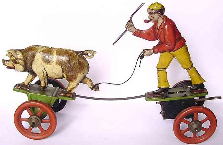 Technofix 129a Hirte und Schwein mit Uhrwerk