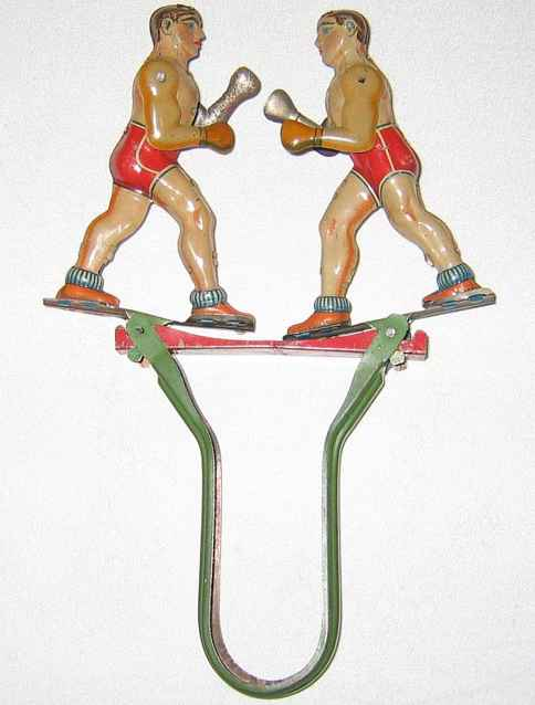 technofix 143 blech spielzeug boxer auf federbuegel
