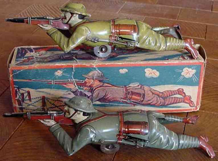 technofix 234E blech spielzeug englischer, schießender soldat