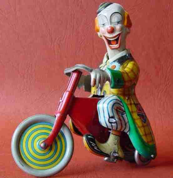 technofix 264 blech spielzeug merry clown uhrwerk