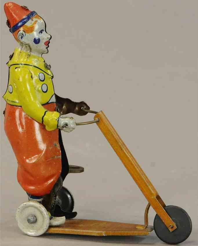 tippco blech spielzeug clown auf roller mit uhrwerk