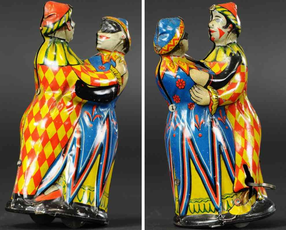 blech spielzeug tanzpaar harlekin-kostueme