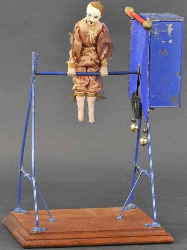blech spielzeug akrobat am reck uhrwerk ueberschlaege