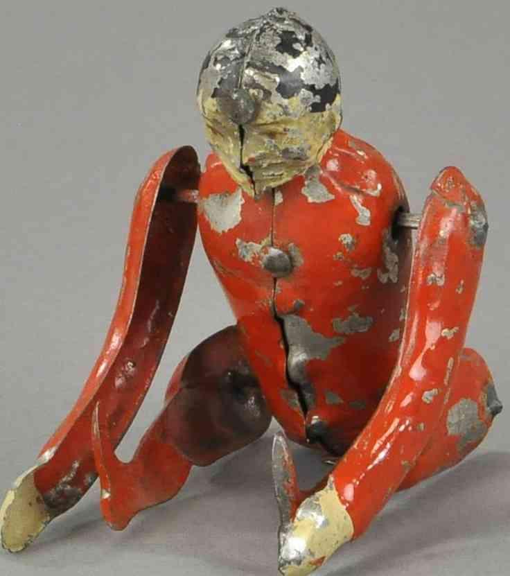 blech spielzeug akrobat rot uhrwerk