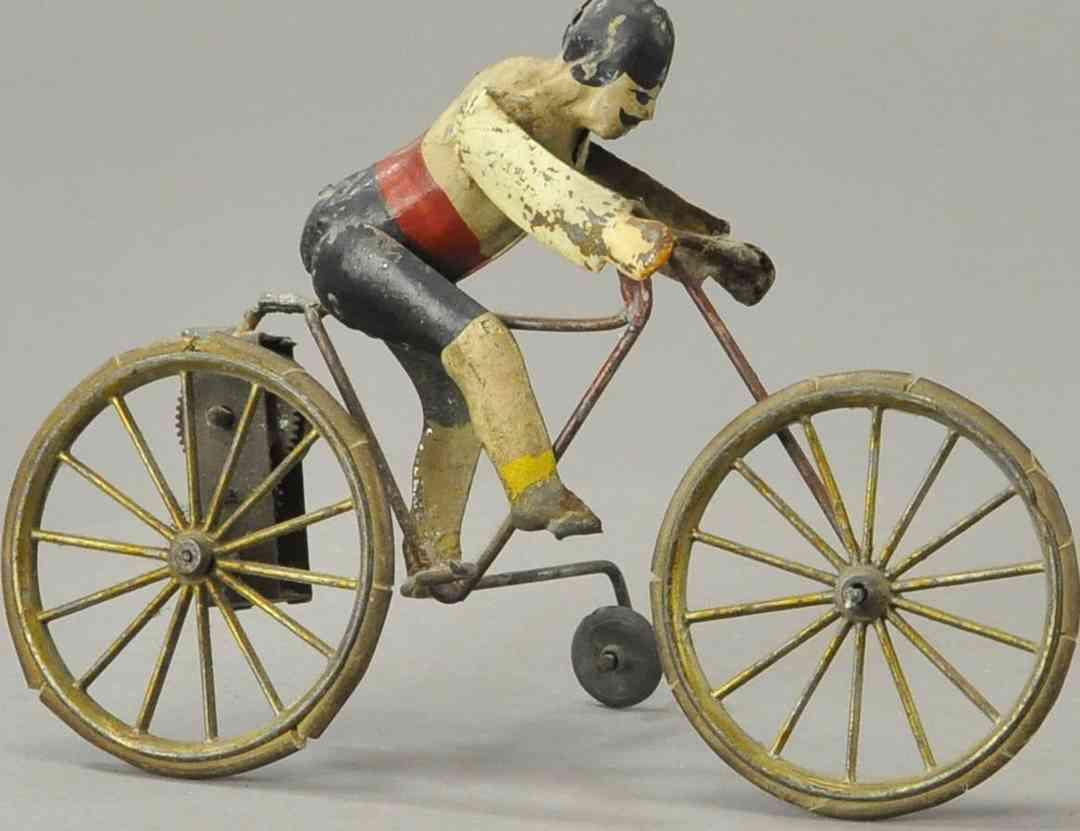blech spielzeug franzoesischer radfahrer mit uhrwerk