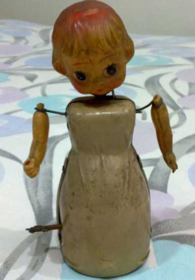 Betty Boop made with celluloid and tin wind-up toy