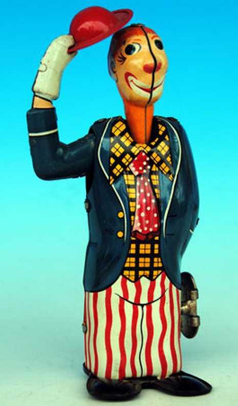 unknown blech spielzeug clown clown jonny, japanische version des nbn clowns