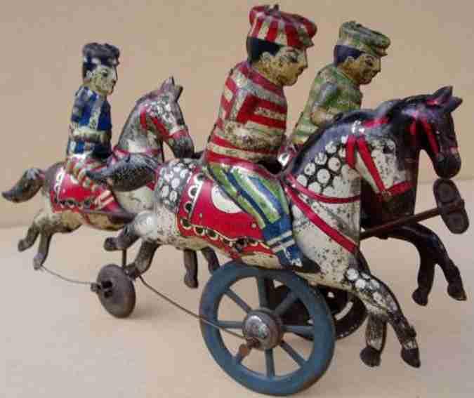 drei Reiter Aufbau wie eine Kutsche
