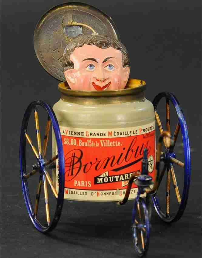 blech spielzeug franzoesisches satirisches dreirad paris 187