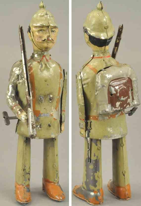 blech spielzeug soldat helm rucksack gewehr