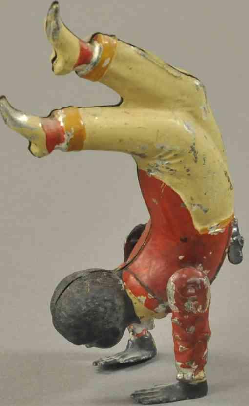 blech spielzeug strassenkuenstler handstand uhrwerk