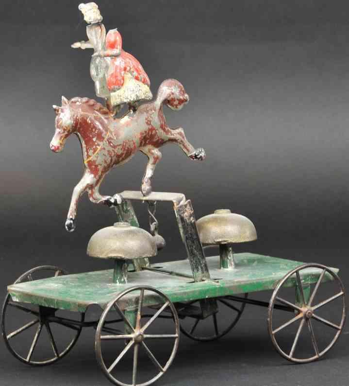 blech spielzeug akrobat auf pferd als glockenspielzeug