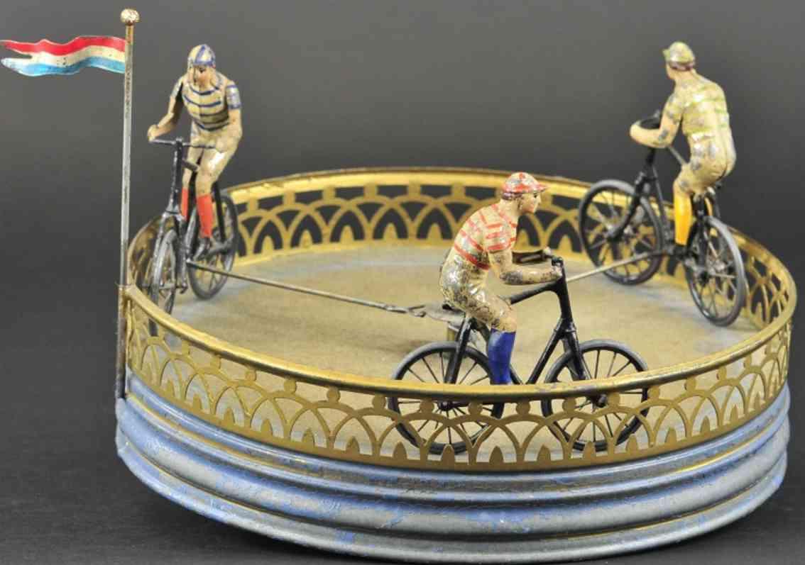 frankreich blech spielzeug rennspiel drei fahrradfahrer