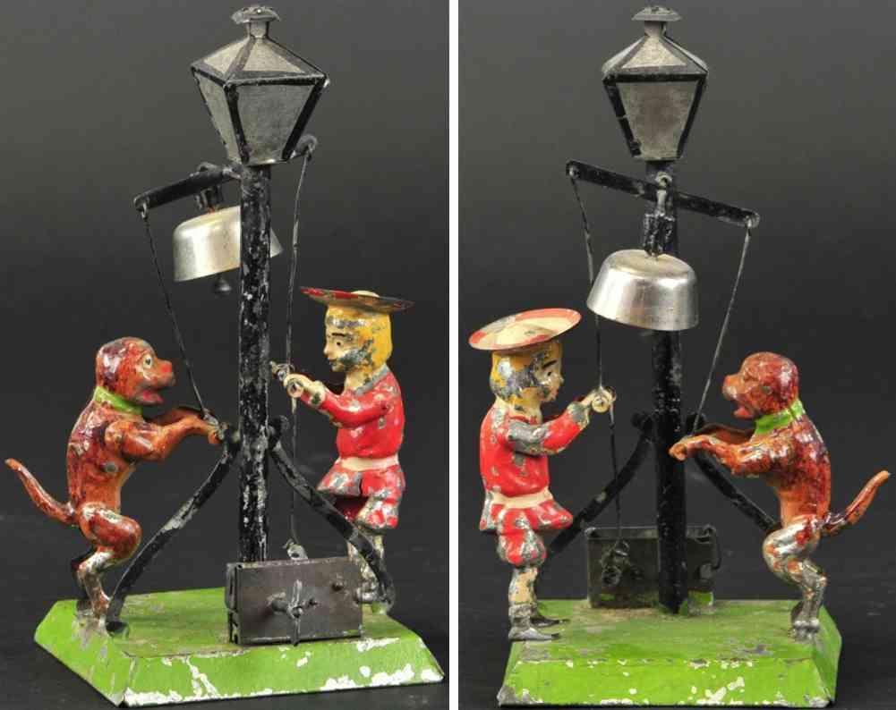 blech spielzeug buster brown and tige lampe glocke uhrwerk