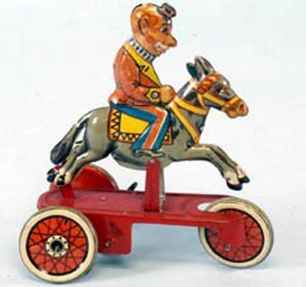 Clown on Donkey with clockwork