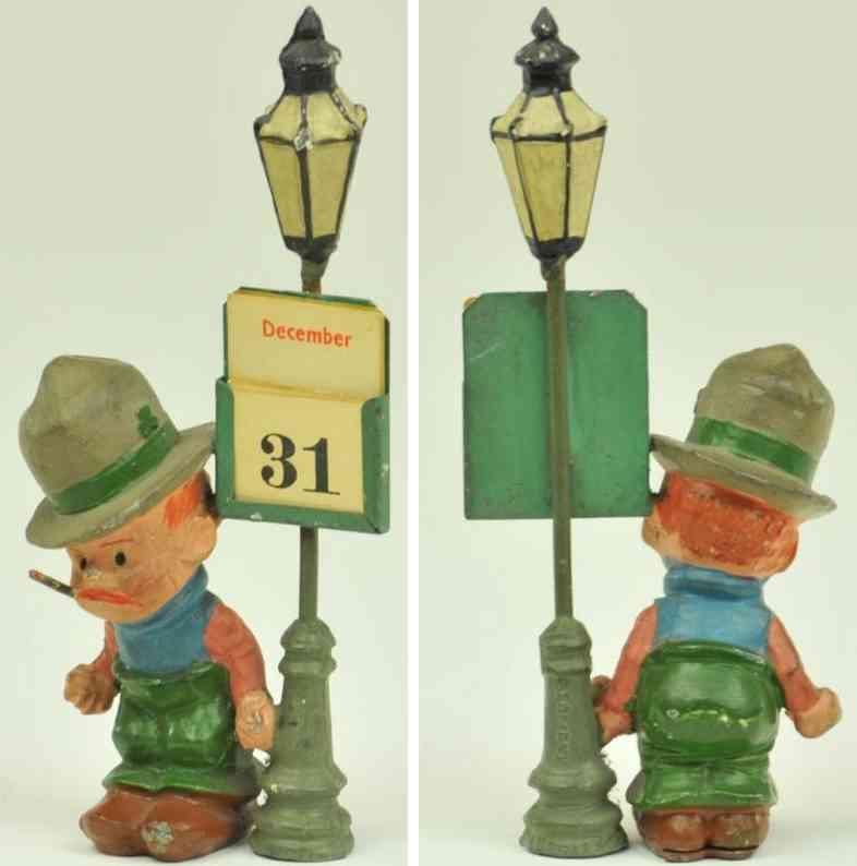 blech spielzeug micky mcguire bleifigur neben lampenpfahl