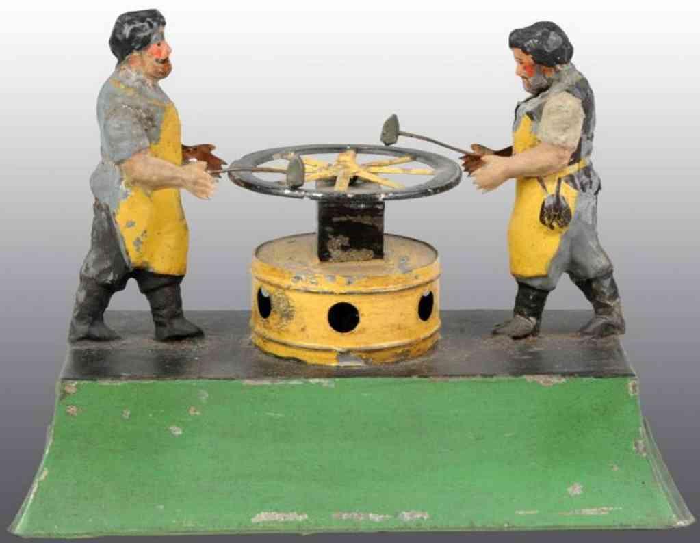 Blacksmith of hand-painted tin