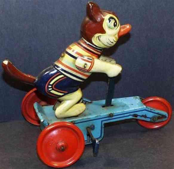 veb 650 tin toy felix the cat, tin plate litho windup