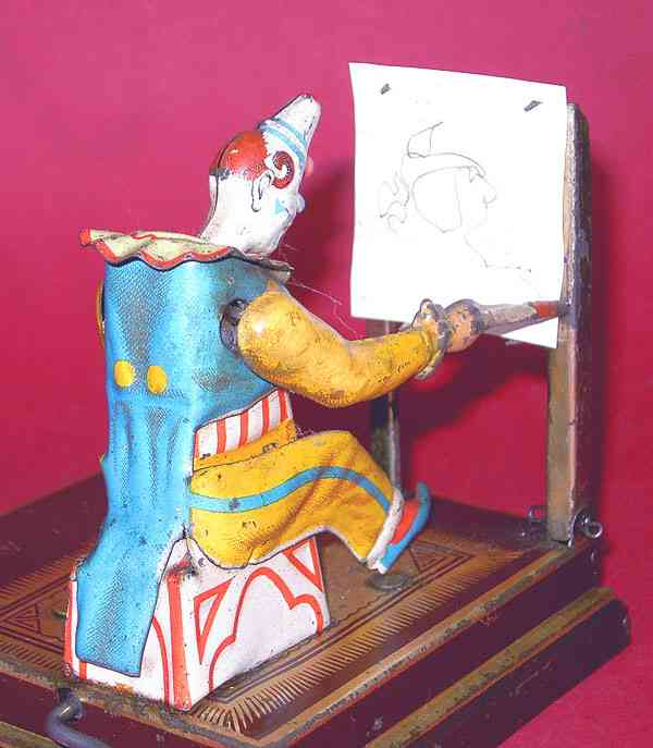 vielmetter tin toy clown painting clown