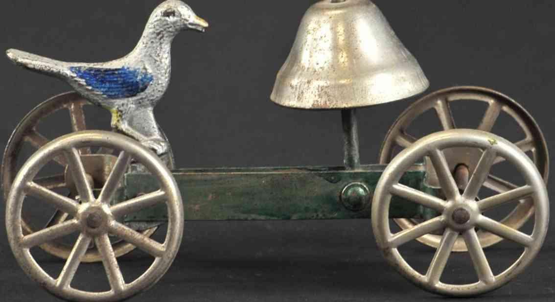 watrous mfg co gusseisen vogel als glockenspielzeug