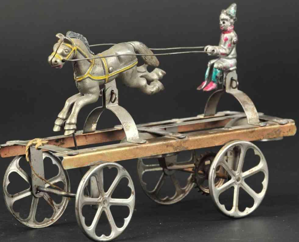 watrous mfg co gusseisen clown pferd plattform glockenspielzeug