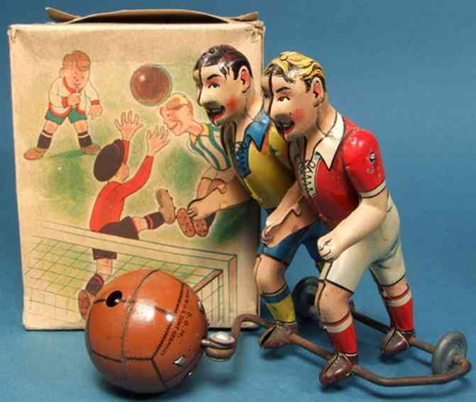 wuennerlein wueco blech spielzeug zwei soccer spieler