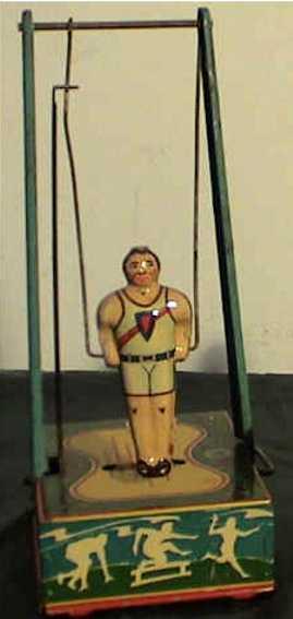 wyandotte blech spielzeug mann am fliegenden trapez