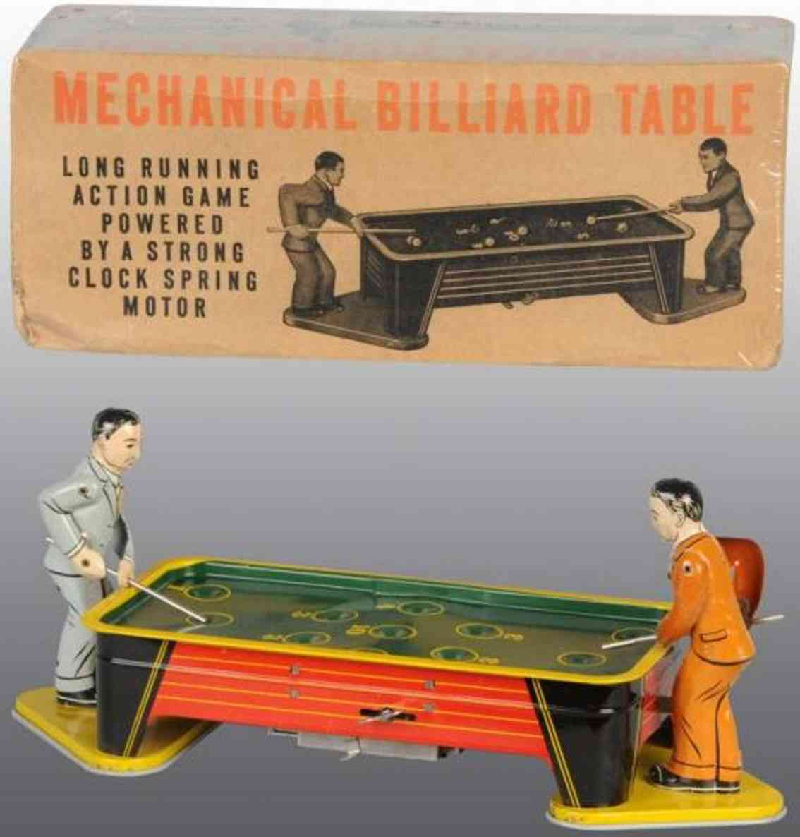ranger steel products tin toy billiard table two players
