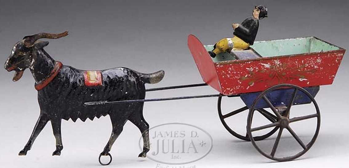 Althof Bergmann Bauenrkutsche mit Fahrer gezogen von einer Ziege