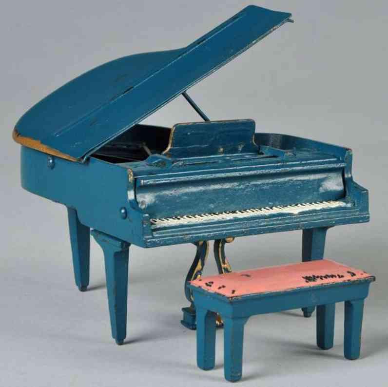 arcade 185 spielzeug gusseisen piano mit bank