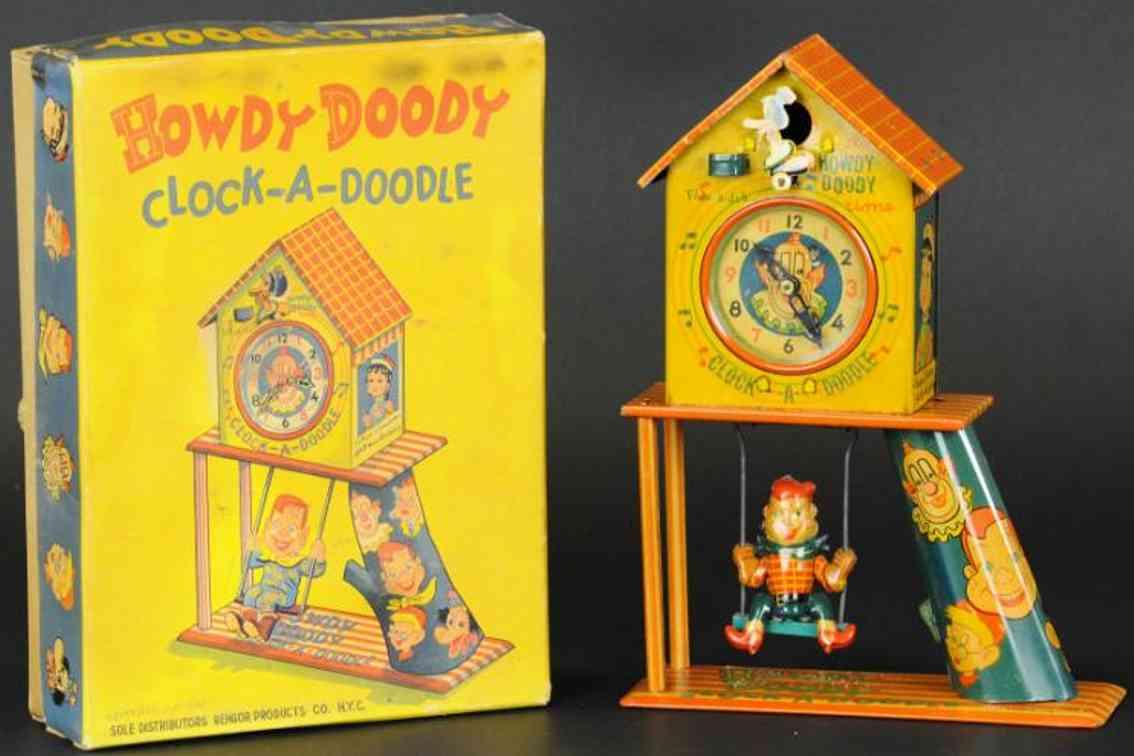 bandai tin toy howdy doody cuckoo clock-a-doodle
