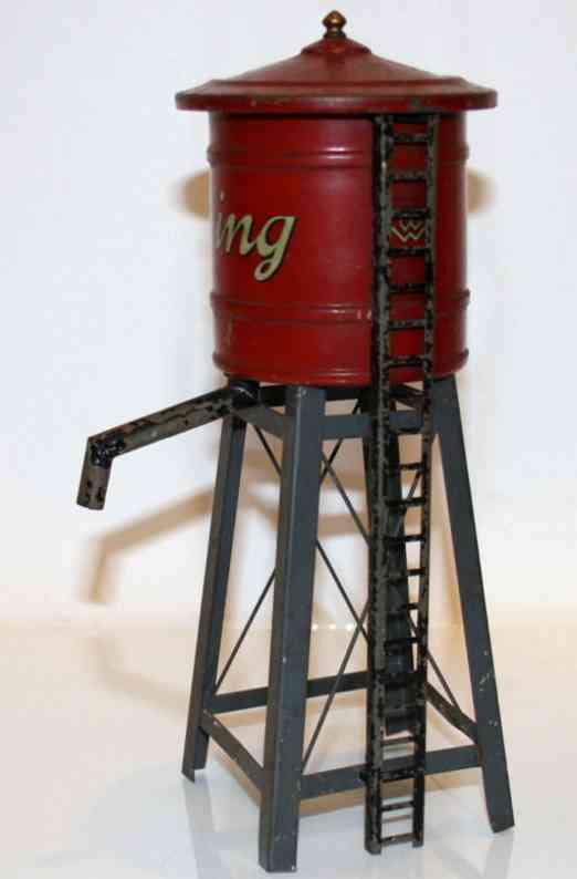 bing 10/9192 blech spielzeug wasserturm leiter rot