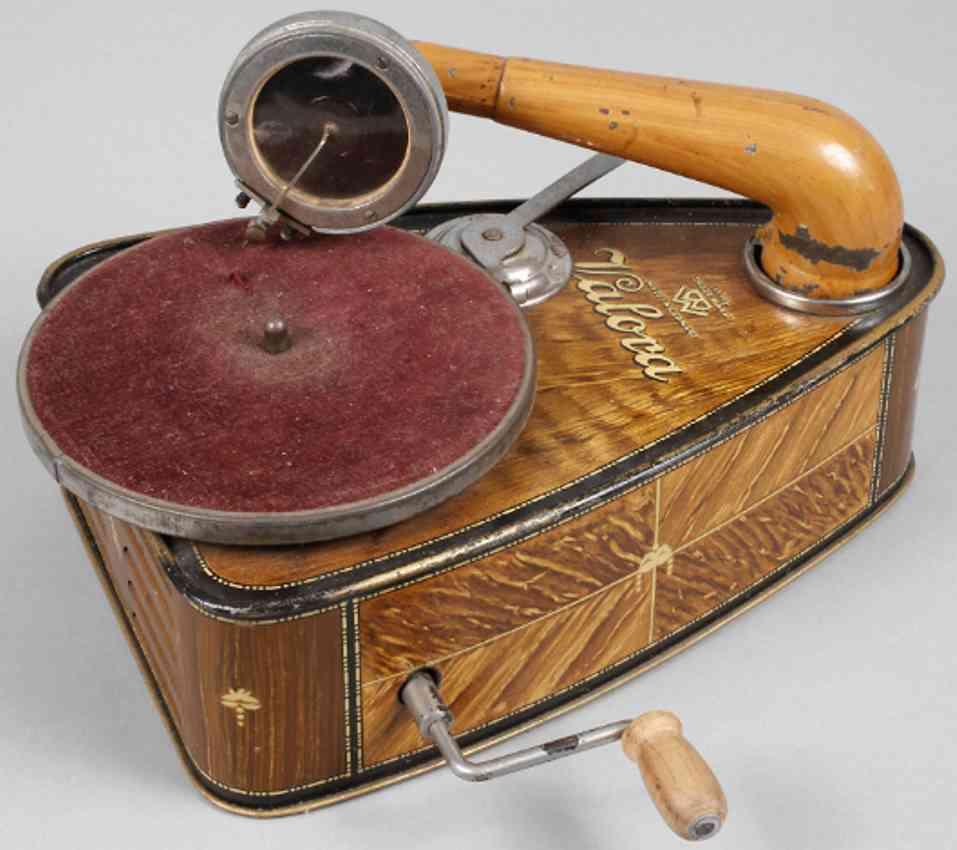 bing tin toy gramophone valora clockwork