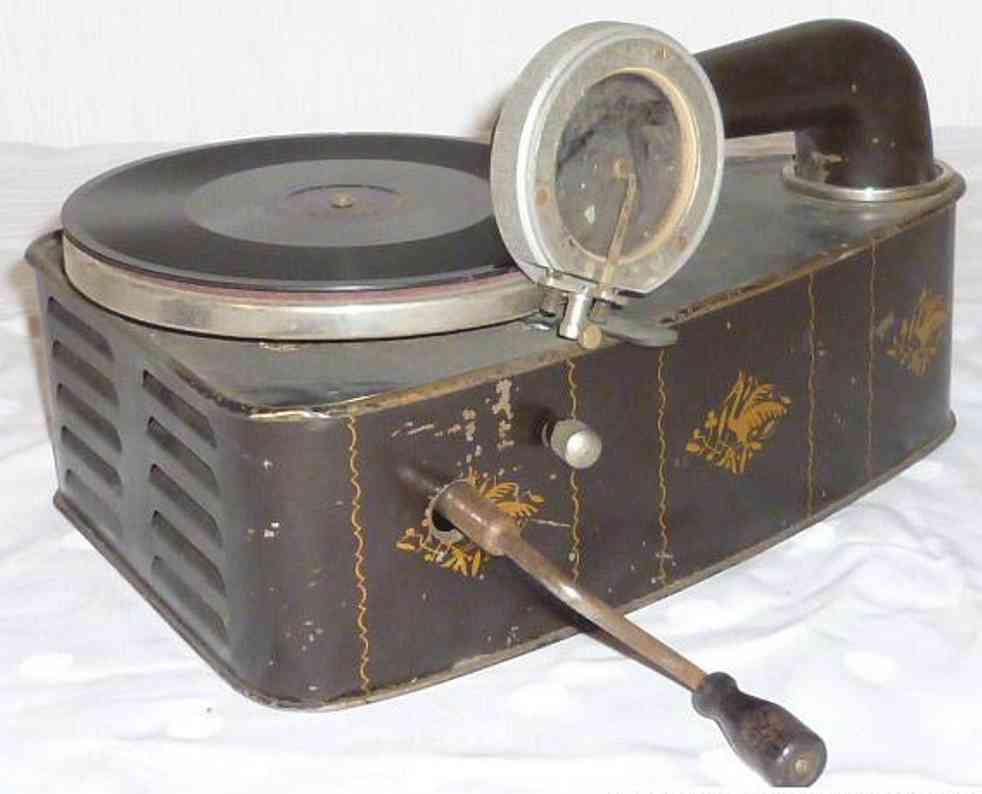 bing blech spielzeug grammophone valora