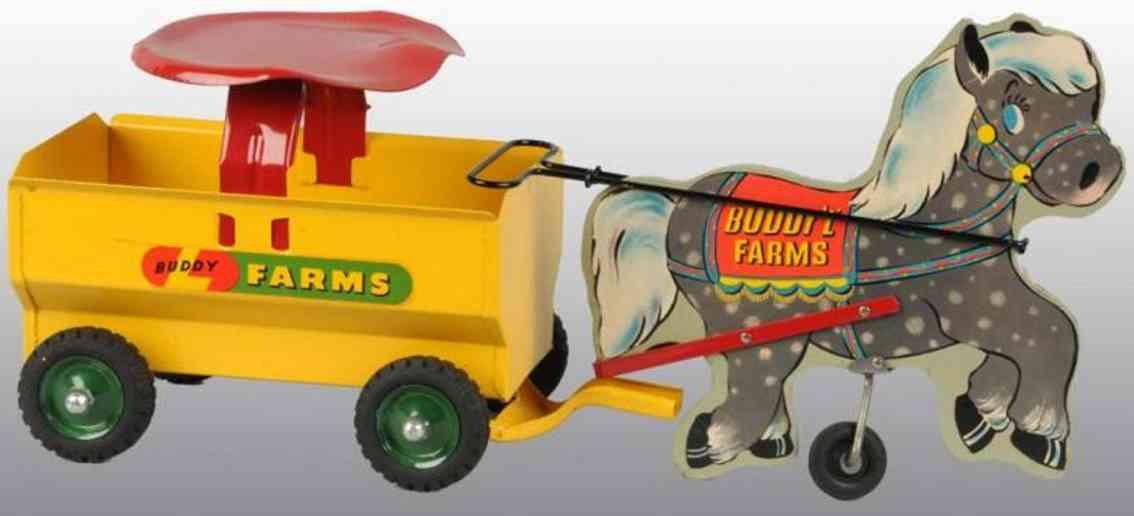 Buddy L 1809 Bauernwagen mit Pferd