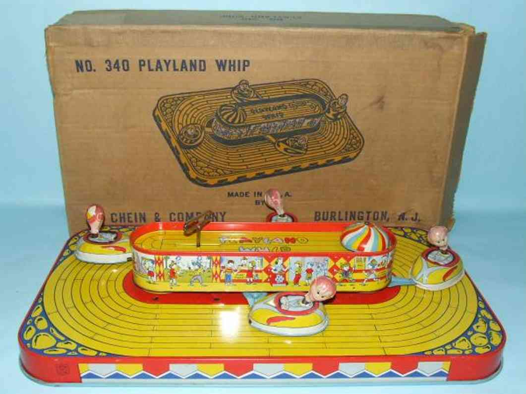 chein co 340 blech spielzeug playland whip schluessel links