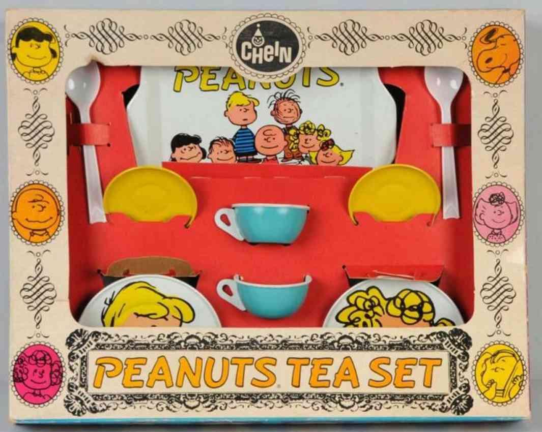 Chein Co. Peanuts Teeset aus Blech